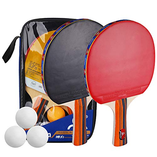 Check Out This Lixada Table Tennis Racket,Ping Pong Paddle Set,with Portable Storage Bag Included. A...