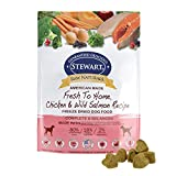 Stewart Raw Naturals Freeze Dried Dog Food Grain Free Made in USA with Chicken & Salmon, Fruits, & Vegetables for Fresh To Home All Natural Recipe, 12 oz.