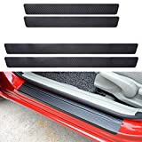 QianBao 4PCs Car Door Sill Protector Carbon Fiber Sticker, Welcome Pedal Car Entry