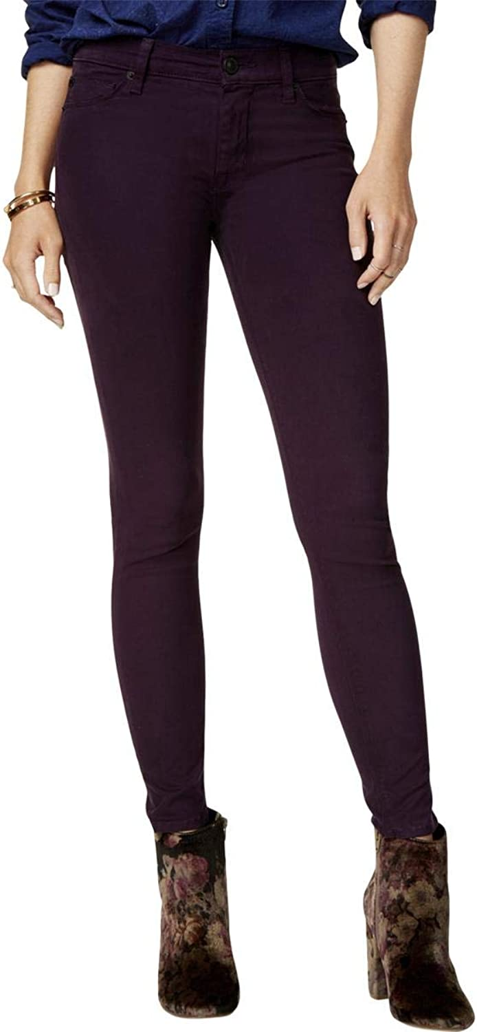 Hudson Womens Nico colord Skinny Ankle Jeans Purple 28