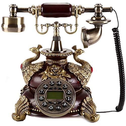 TRTT Teléfono Retro para el hogar Teléfono nostálgico Vintage con botón pulsador con dial de botón para la decoración de la Oficina de la Sala de Estar del hogar