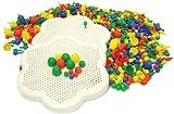 Play & Discover - Set de 2 Plantillas con 300 Pinchos para mosaicos (Pinchos de 3 tamaños)
