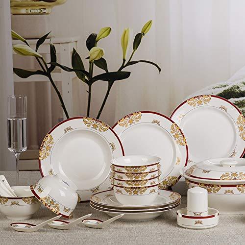 Vajilla Jingdezhen Set Victoria platos europeos clásicos set platos de vajilla 煲 conjunto de 28 piezas