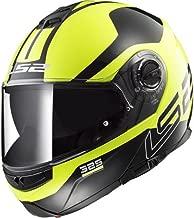 LS2Casco de motocicleta Strobe Zona Hi Vis, Negro/Amarillo, Tamaño M