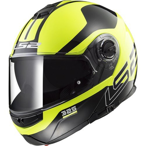 Casco de moto integral amarillo