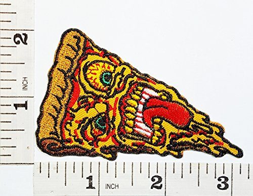 Food Logo Fantasy food Pizza Logo Patch Symbol Jacket T-shirt Patch Sew Iron on Embroidered Sign Badge Costume