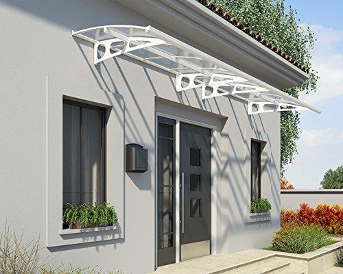 TERRANDO Palram Vordach, Regenschutz, Überdachung Bordeaux 4460 inkl. Regenrinne // 447x139 cm (BxT) // Pultvordach und Türüberdachung