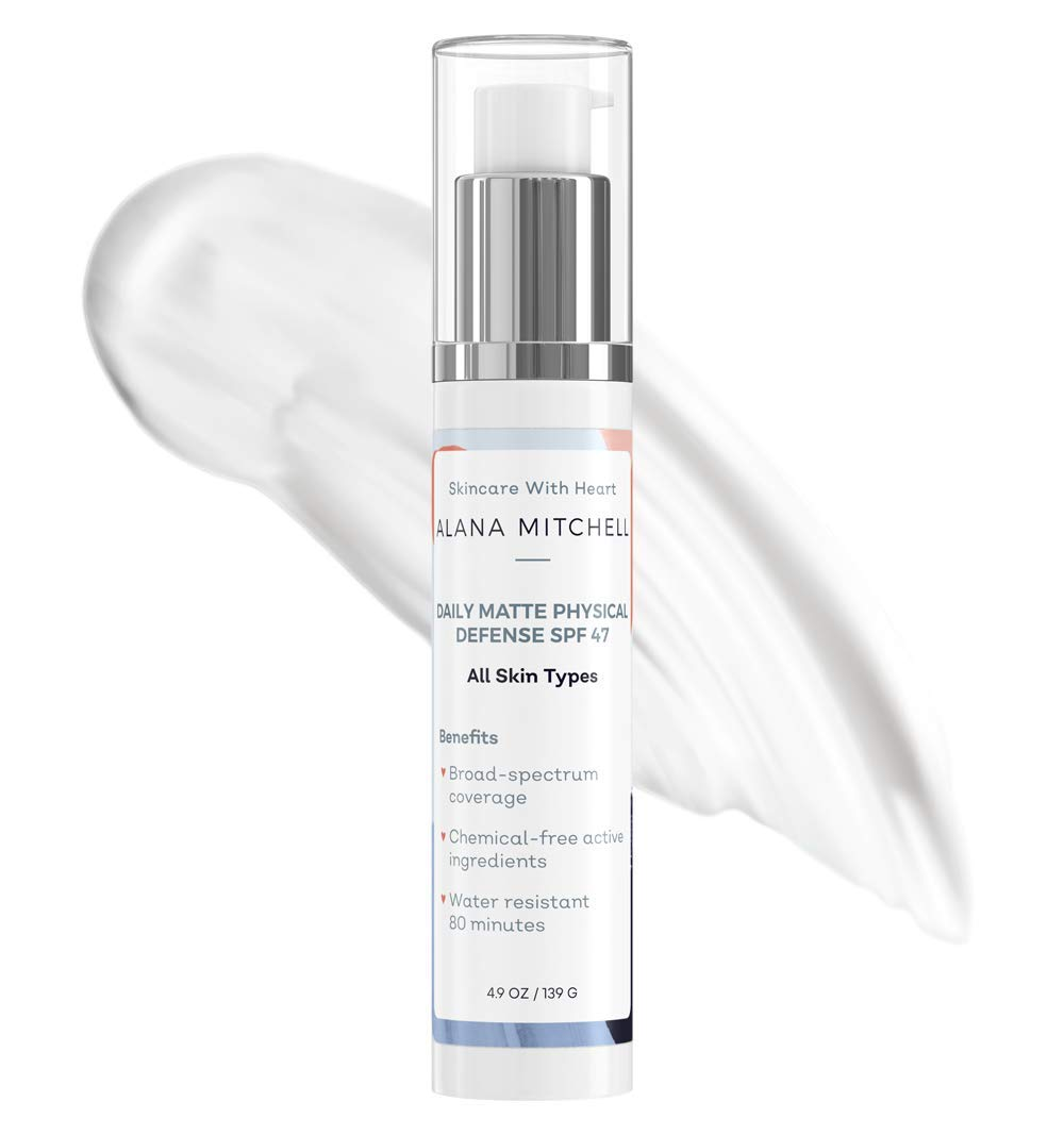 Daily Broad Spectrum Physical Sunscreen Defense Same day shipping Matte Gifts Moisturize