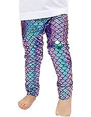 EZSTAX Sirena Leggings para Niñas Pantalones Ajustados Regalo