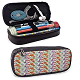 Porta pennarelli ad alta capacità Colorful High Capacity PU Leather Pencil Case, for Pens Pencils Highlighters Gel Pen Markers Eraser School Supplies Multicolor