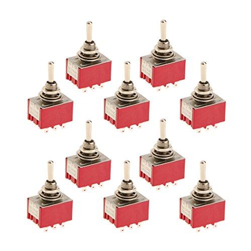 oshhni 10 Piezas 9 Pines Encendido/Apagado/Encendido Interruptor Basculante 9 Pines Modelo 3PDT