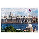 MZTYPLK Rompecabezas de 1000 Piezas,Rompecabezas de imágenes,Panorama San Petersburgo Rusia Barcos turísticos,Juguetes Puzzle for Adultos niños Interesante Juego Juguete Decoración para El Hogar