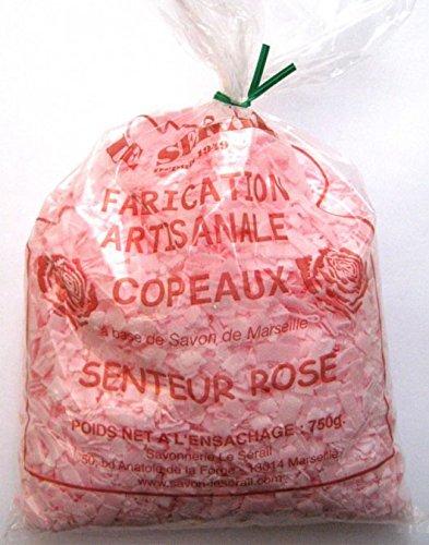 Scaglie di sapone di Marsiglia profumati alla rosa, 750g, il detersivo più economico Scaglie di sapone per il lavaggio del bucato delicato. Ecologico e naturale. Saponeria artigianale.
