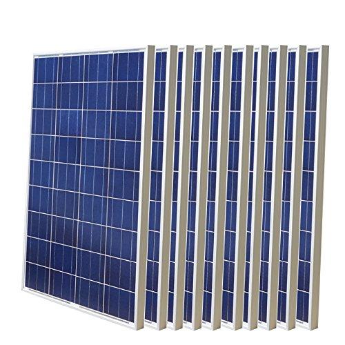 Paneles solares de polietileno de alta eficiencia, 1000 W, 10 unidades, 100 W