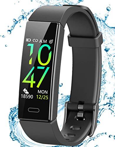 JAZIPO Fitness Armband Schrittzähler, Fitness tracker mit Herzfrequenzmesser...