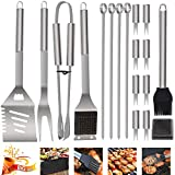 *POLIGO 19 Peces Set Barbacoa Utensilis Graella Barbacoa Acer Inoxidable amb *maletin Barbacoa, Complet Regals Nadal Kit Barbacoa Accessoris Barbacoa Eina Barbacoa Regals per a Homes