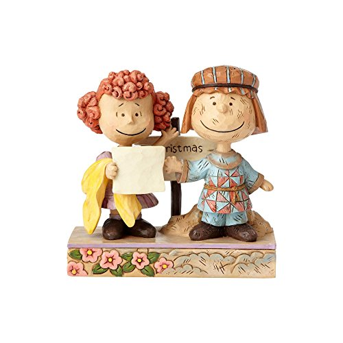 Jim Shore Heartwood Creek 4057668 Peanuts by Jim Shore Pig Pen and Frieda Figurine, Resin, mehrfarbig, 11.5 x 5.50 x 12.0 cm