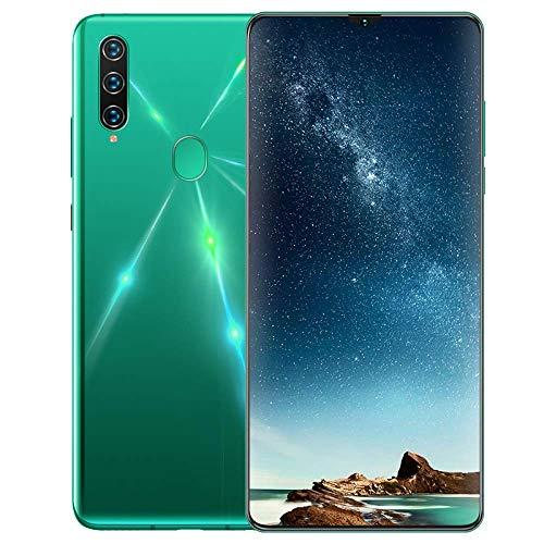 A91 Smartphone ohne Vertrag, 4G LTE 6,7 Zoll Smartphone, 4GB RAM+32GB ROM, 4680mAh Akku, 13MP+8MP Kamera, Dual SIM Handy Android 9.0, WLAN, Fingerabdruck, Face ID-Grün