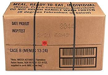 Sopakco 12ct US Military Surplus MRE Meals Ready to Eat 2021 Inspect B Case Menus 13-24