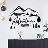 SHELLSTYLE Inspirational Wall Decals Quotes (Adventure Awaits)