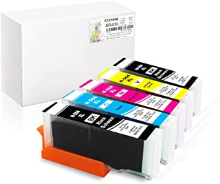 Conink 564XL Compatible with HP 564 XL Ink Cartridges Combo Pack for Photosmart 3520 5520 5510 5514 6320 6520 6510 7520 7510 7525 B8550 C6380 Premium 209A C309A C410 Officejet 4620 (1B 1C 1M 1Y 1PBK)