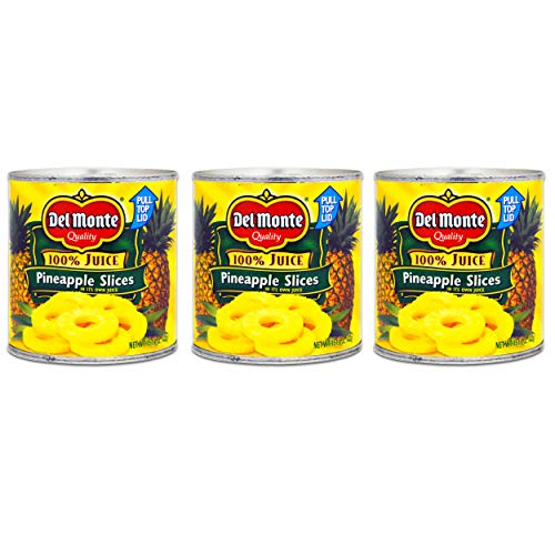 Del Monte Canned Fruit - 3 Pack Bulk Del Monte Pineapple Slices In Juice (45.75 oz Total)