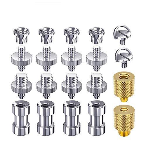 Kamera Schraube 20 Stück Stativ Schraube 1/4 auf 1/4 Schraube 1/4 auf 3/8 Stativ Gewinde Adapter Konverter