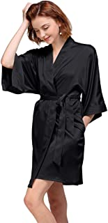 AW Women's Bride Bridesmaid Kimono Robes Short Dressing Gown for Wedding Party