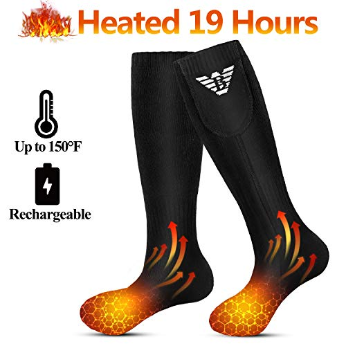 Heated Socks for Men Women - Electric Socks Rechargeable, Thermal Battery...