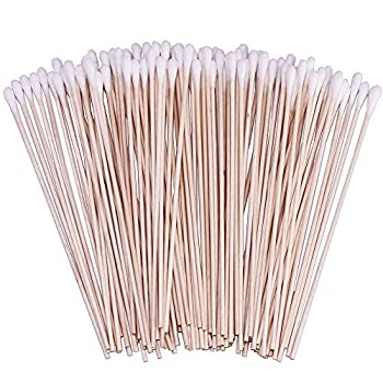400 Count 6 Inch Long Cotton Swabs with Wooden Handles Cotton Tipped Applicator for Cleaning