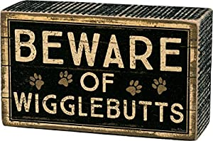 Beware of Wigglebutts box sign