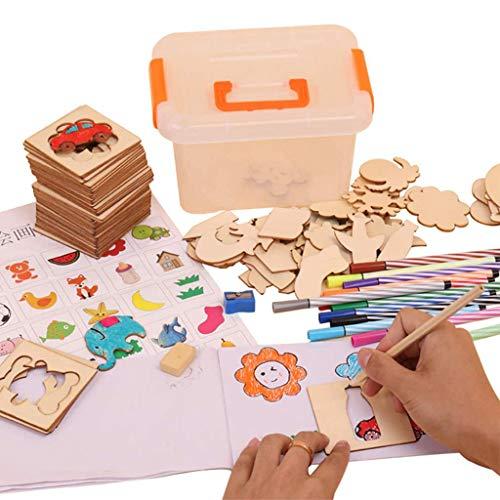 Diy Schilderij Creatieve Sjabloon Kinderen Tekenen Stencil Art Set Kinderen Schilderen Stencil Sjablonen Diy Kleurset Voor Peuters Early School Education Toy, Early School Education Toy