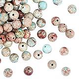 OLYCRAFT 96pcs 8 mm Natural Imperial Jasper Beads Regalite Jasper Bead Strands Redondo Perlas Sueltas de Piedras Preciosas Piedra Energética para Pulsera, Collar, Fabricación de Joyas