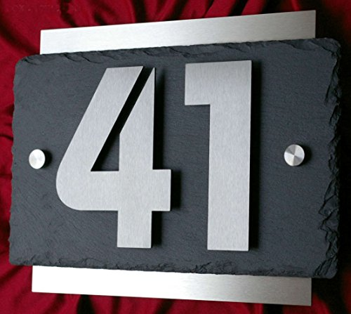 Leskow Metalldesign -  Hausnummer aus