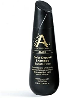 Inova Professional Color Revive & Enhance - Smooth Protection Sulfate-Free Shampoo - Color Deposit Black, 11 Fluid Ounce