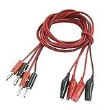 Cable de Prueba - SODIAL(R)2 par Broche de cable de prueba cocodrilo a macho cuerda de enc...