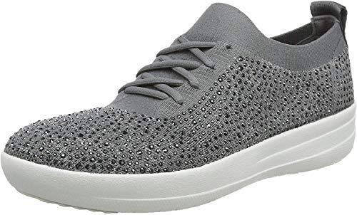 Fitflop Damen F-Sporty Uberknit Sneakers, Grau (Charcoal/Dusty Grey 600), 37 EU