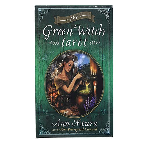 DFGHJKNN Cartas De Tarot - The Green Witch Tarot 78 Cards - Tarot Cards para Principiantes - Versión En Inglés - Juego De Adivinación del Destino De La Fiesta Familiar