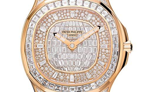 Patek Philippe Aquanaut Rose Gold 5062-450R-001 with 160 Brilliant-Cut Diamonds and 76 Baguette Diamonds dial