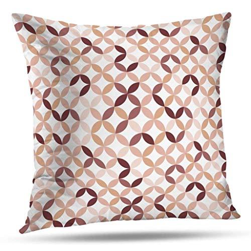 Funda de almohada redonda de color rosa fucsia con patrón de Goemetry, funda de cojín para el hogar, decoración para el salón, funda de almohada con cremallera doble, 40 x 40 cm