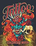 Tattoo Coloring Book: Beautiful Modern Sugar Skulls, Dragons, Snake Drawing Relaxation Activity Book – Traditional Illustrations Designs Such As ... – Great Gift Idea For Women, Men & Teens
