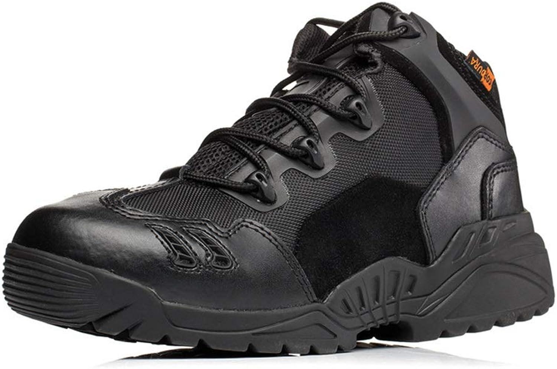 Jincosua Herren Militärstiefel Desert Moutain Klettern Weiche Sohle Rutschfeste Outdoor Stiefel (Farbe   Schwarz, Größe   EU 40)  | Hervorragende Eigenschaften