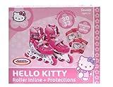 HELLO KITTY - Patin en linea tamano 2 = 34-37 + 2 protecciones