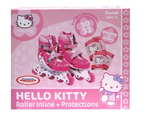 Hello Kitty 34–37cm, Rollen Inline und Pads