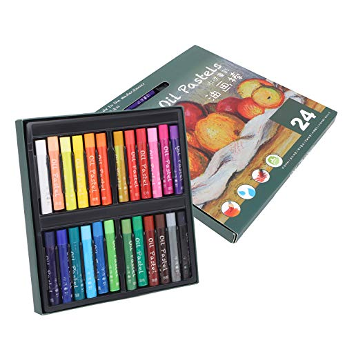 Herramientas de pintura, Pastel al óleo lavable, 24 piezas para pintura escolar Uso de estudiantes Estudiantes