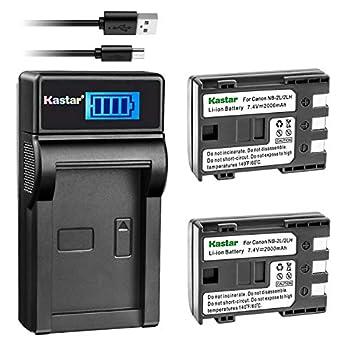 Kastar Battery  X2  & LCD Slim USB Charger for Canon NB-2L NB-2LH NB-2L12 NB-2L14 NB-2L24 BP-2L5 BP-2LH and Canon EOS Digital Rebel XT Xti Cameras
