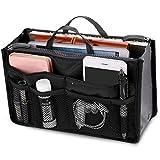 New_Soul Reise-Einsatz für Handtasche, Damen, Organizer, Kosmetiktasche, 13 Taschen, schwarz
