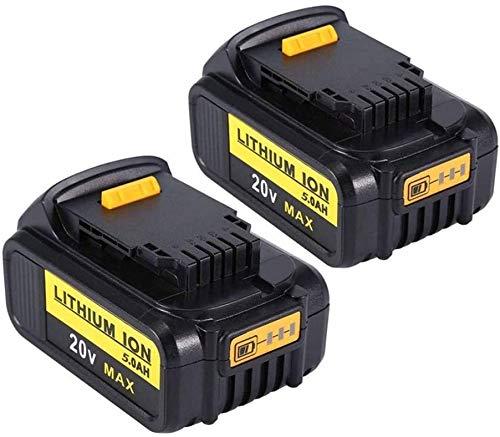 VANTTECH 2Stück DCB200 5.0Ah 20V MAX XR Lithium-Ionen Ersatzakku für DEWALT 18V DCB184 DCB200 DCB182 DCB180 DCB181 DCB182 DCB201 für DeWalt Akku