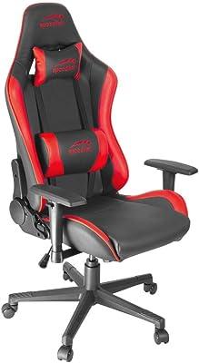 Speedlink Xandor Gaming Chair, Cuero sintético, Schwarz-Rot, Medium