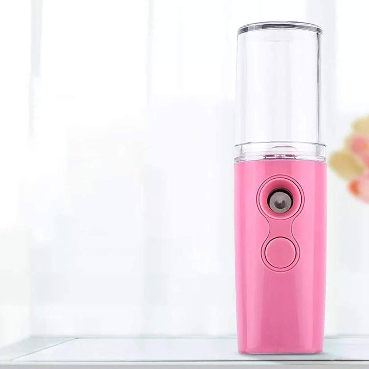 飲料人柄疑わしいACHICOO ポータブルミストスプレーフェイスボディネブライザースチーマー保湿フェイススプレー美容器具 pink